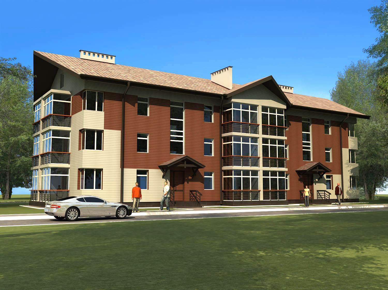 проектирование частных многоквартирных жилых домов